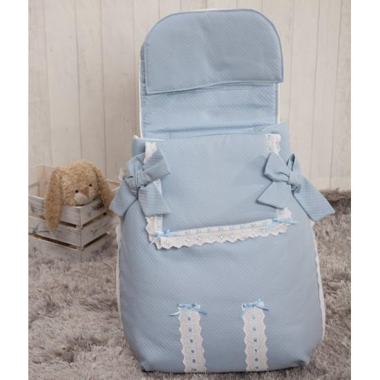 Saco 3 usos bebé Classic Azul