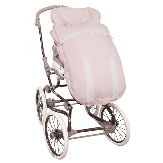 Saco para la silla de paseo Classic Rosa Bebé