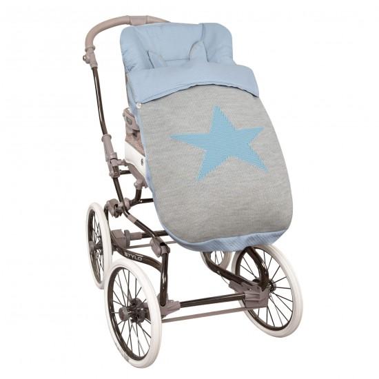 Saco para la silla de paseo Snow Azul