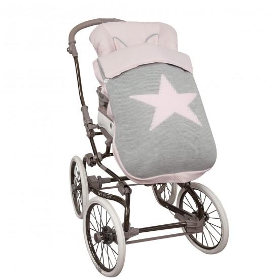 Saco silla de bebé paseo Snow Rosa